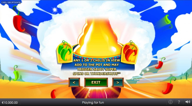 Chili Eruption Thundershots :: Feature Rules