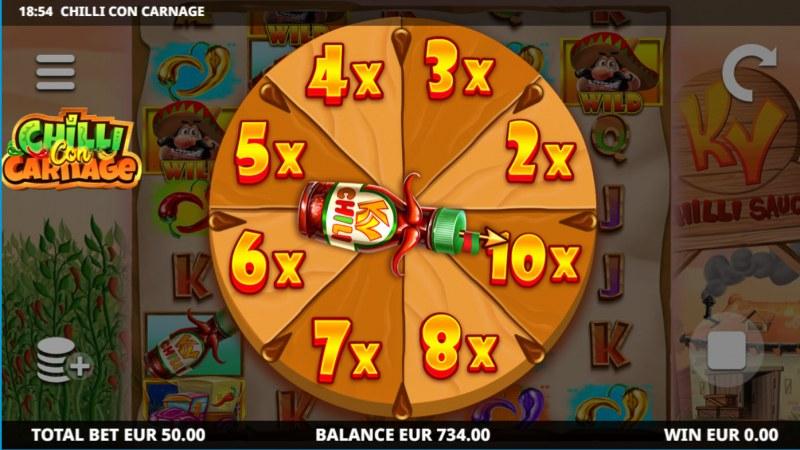 Chilli Con Carnage :: Bonus Wheel