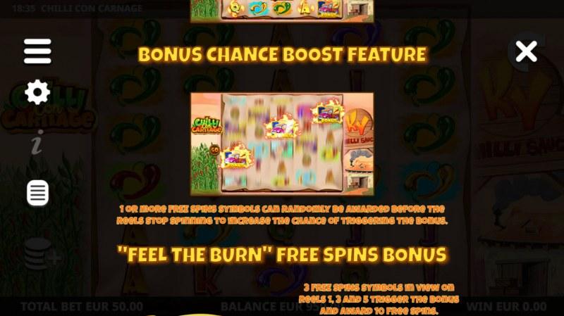 Chilli Con Carnage :: Bonus Chance Boost Feature