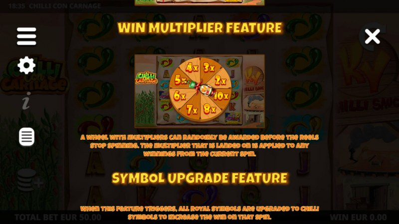Chilli Con Carnage :: Win Multiplier Feature