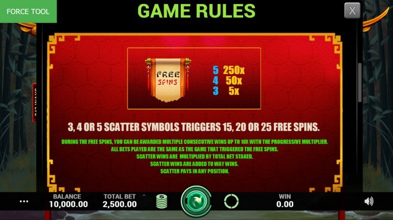 China Charms :: Free Spins Rules