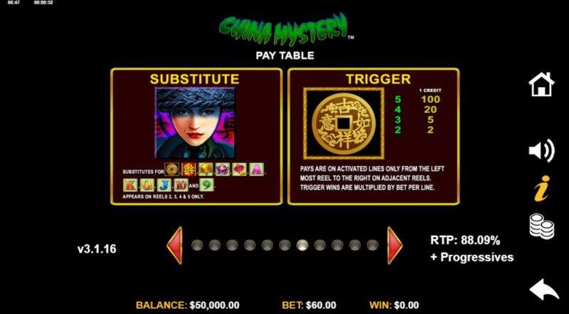 China Mystery with Quickstrike :: Wild and Scatter Rules
