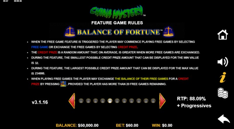 China Mystery with Quickstrike :: Feature Rules