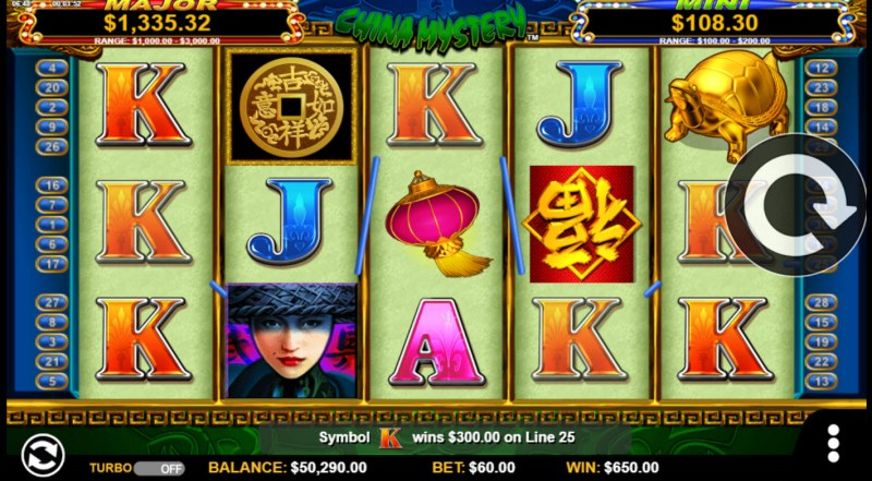 China Mystery with Quickstrike :: A five of a kind win