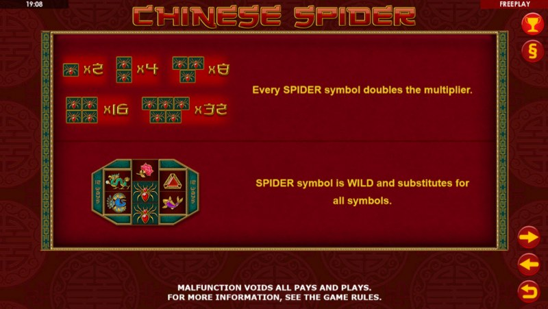 Chinese Spider :: Wild Symbols Rules