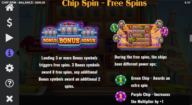 Chip Spin :: Free Spin Feature Rules