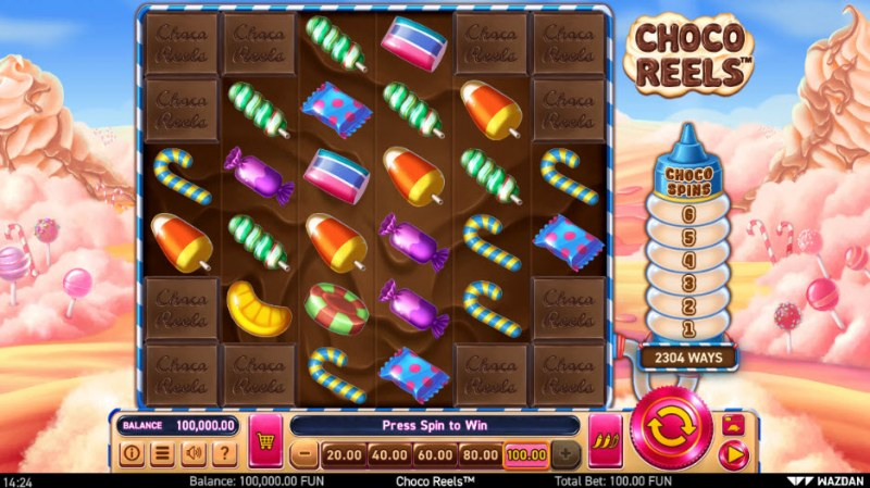 Choco Reels :: Main Game Board