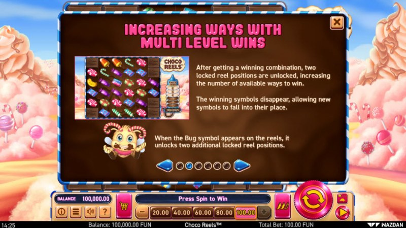 Choco Reels :: Increasing Ways with Multi Level Wins