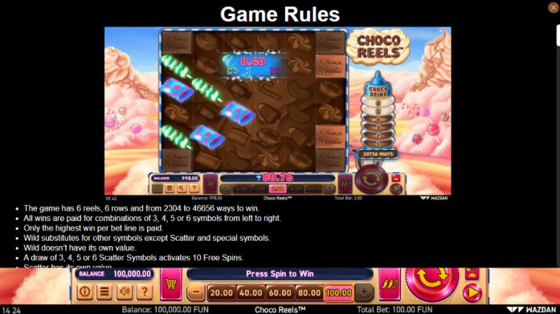 Choco Reels :: General Game Rules