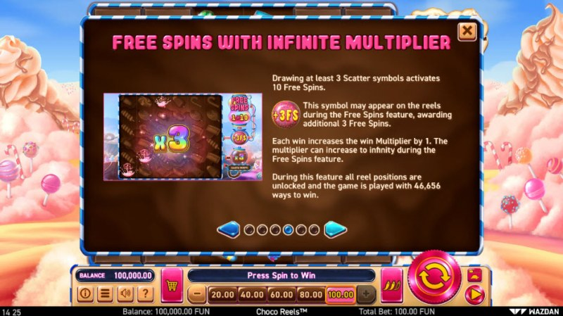 Choco Reels :: Free Spins Rules