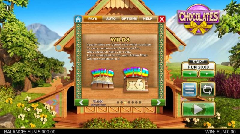 Chocolates :: Wild Symbol Rules