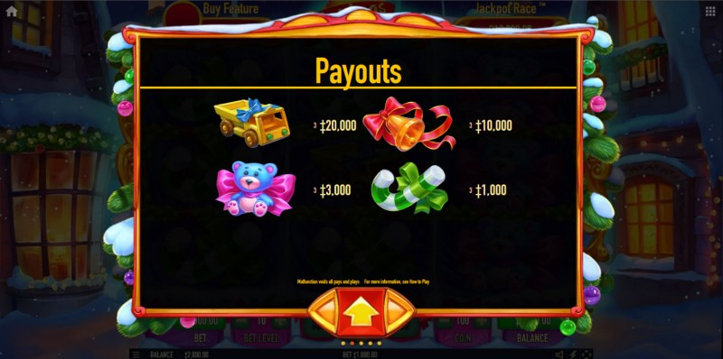 Christmas Gift Rush :: Paytable