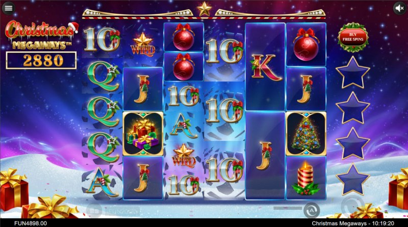 Christmas Megaways :: Winning symbols are removed from the reels and new symbols drop in place