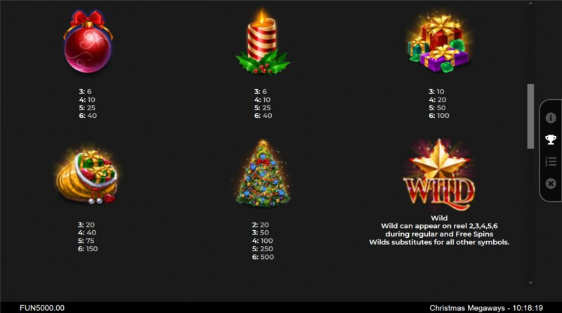 Christmas Megaways :: Paytable - High Value Symbols
