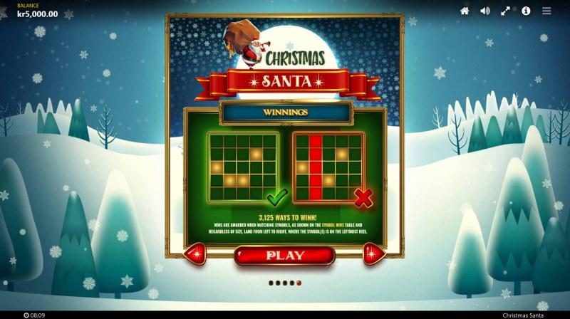 Christmas Santa :: 3125 Ways to Win
