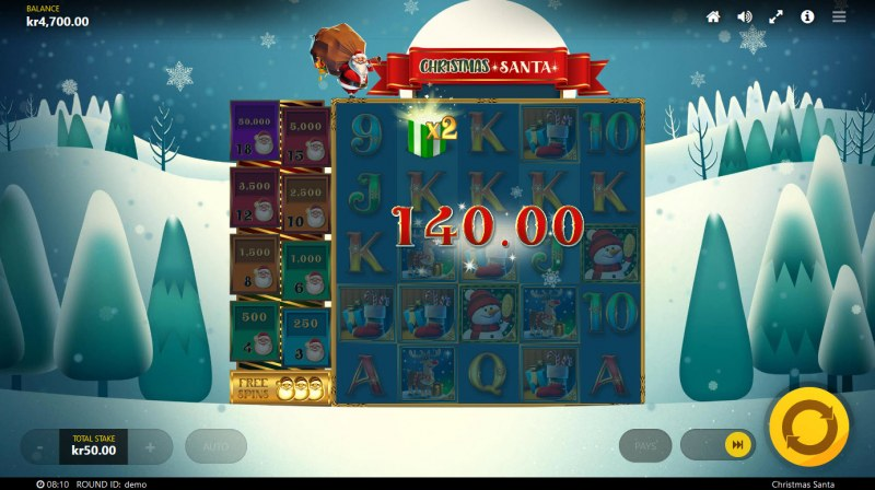 Christmas Santa :: X2 multiplier doubles the payout