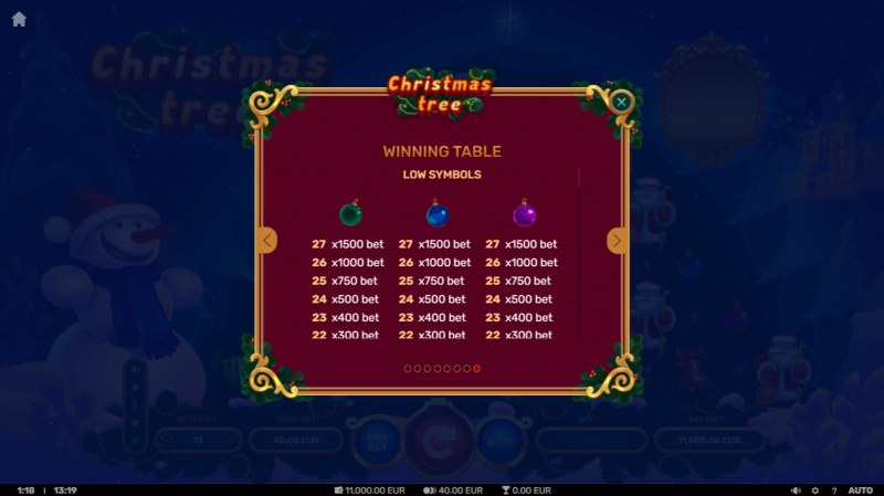 Christmas Tree :: Paytable - Low Value Symbols