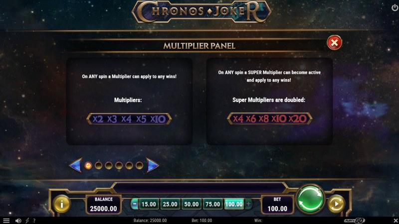Chronos Joker :: Multiplier Feature Rules