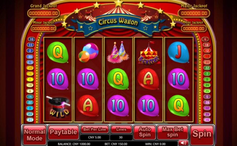 Circus Wagon :: Main Game Board