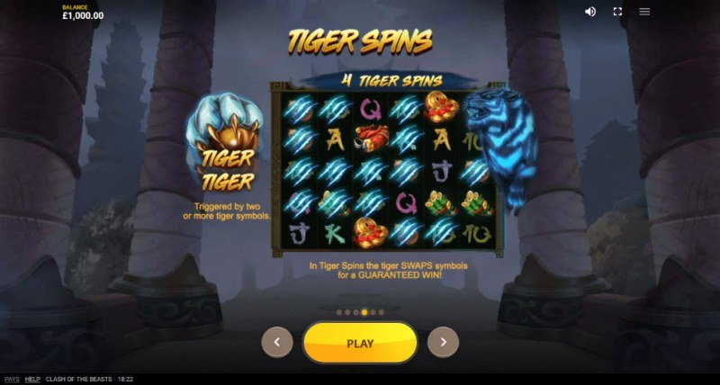 Clash of the Beasts :: Tiger Spins