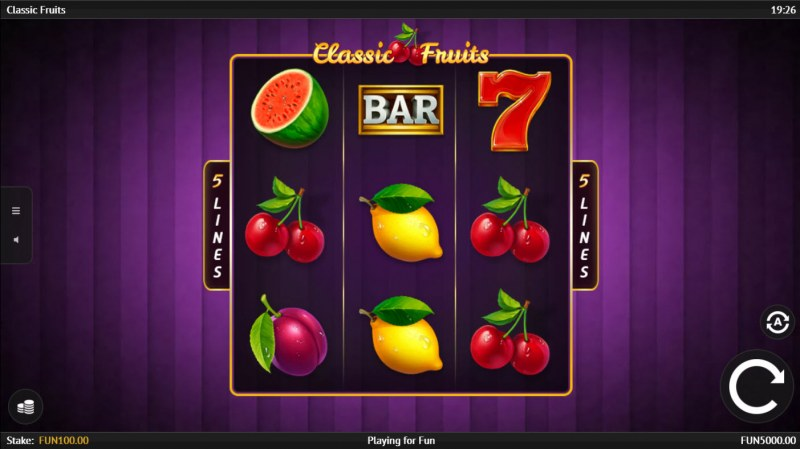 Classic Fruits :: Main Game Board