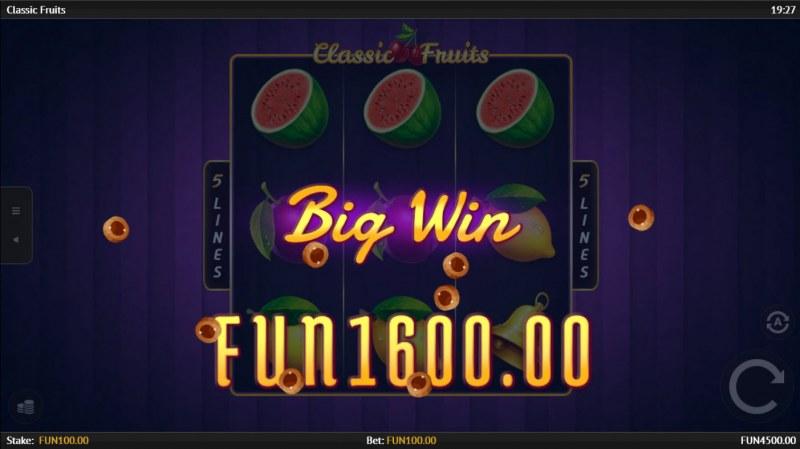 Classic Fruits :: Big Win
