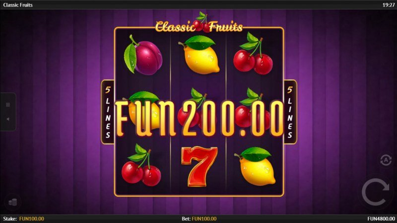 Classic Fruits :: A three of a kind win