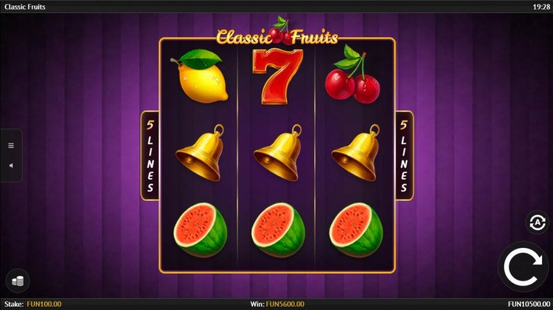 Classic Fruits :: A pair of winning paylines