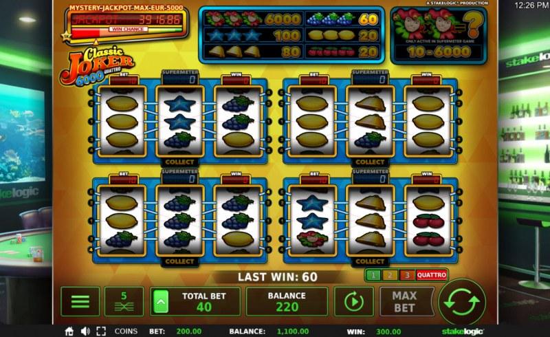 Classic Joker 6000 Quattro :: Quattro Mode