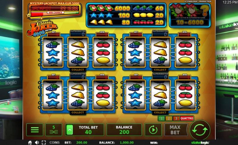 Classic Joker 6000 Quattro :: Main Game Board