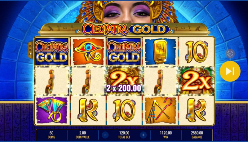Cleopatra Gold :: Multiple winning combinations lead to a big win