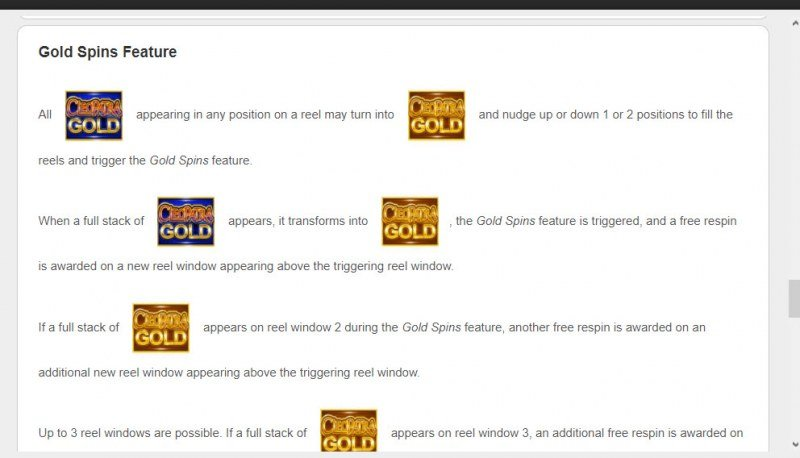 Cleopatra Gold :: Gold Spin Feature