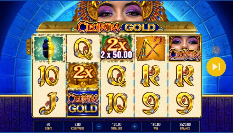 Cleopatra Gold :: A three of a kind win