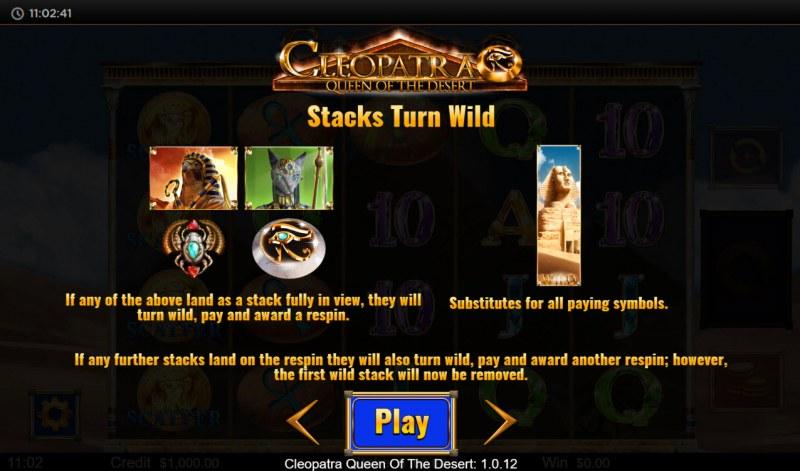 Cleopatra Queen of the Desert :: Stacks Turn Wild