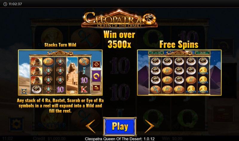 Cleopatra Queen of the Desert :: Win over 3500x
