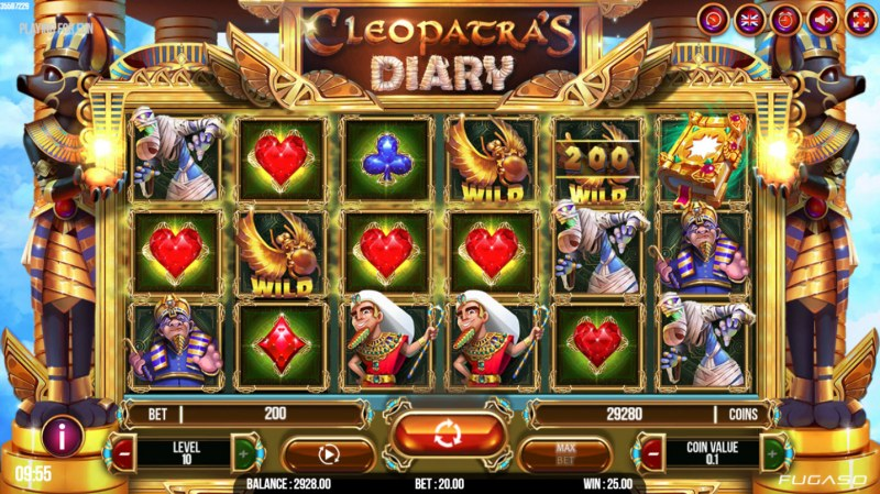 Cleopatra's Diary :: Multiple winning paylines