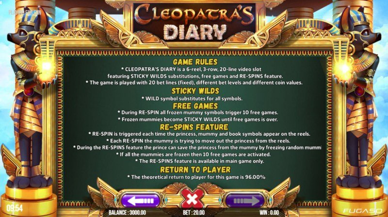 Cleopatra's Diary :: General Game Rules