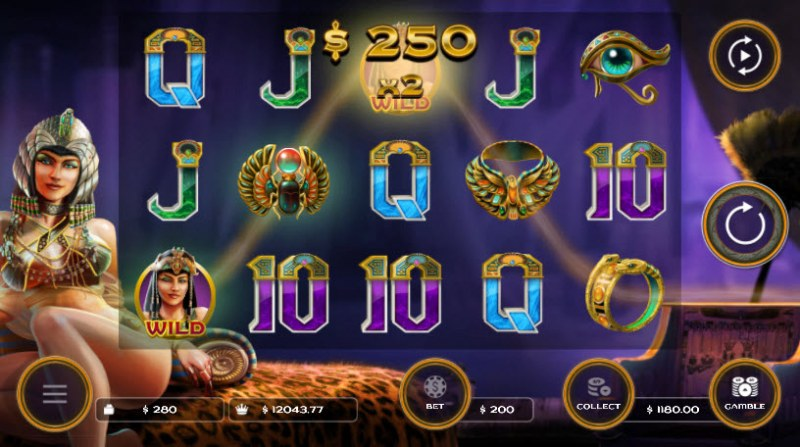 Cleo's Charms :: Multiple winning paylines