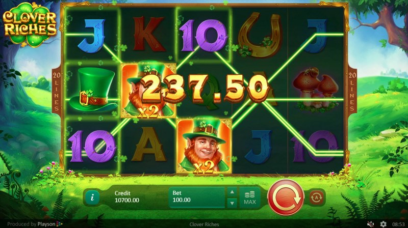 Clover Riches :: Multiple winning paylines