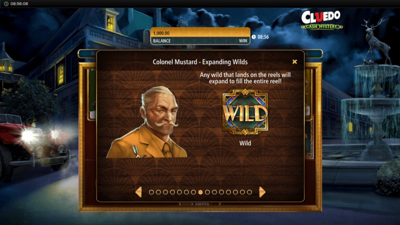 Cluedo Cash Mystery :: Colonel Mustard Expanding Wilds