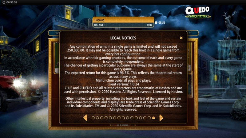 Cluedo Cash Mystery :: General Game Rules