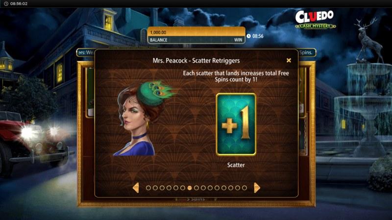 Cluedo Cash Mystery :: Mrs. Peacock Scatter Retriggers