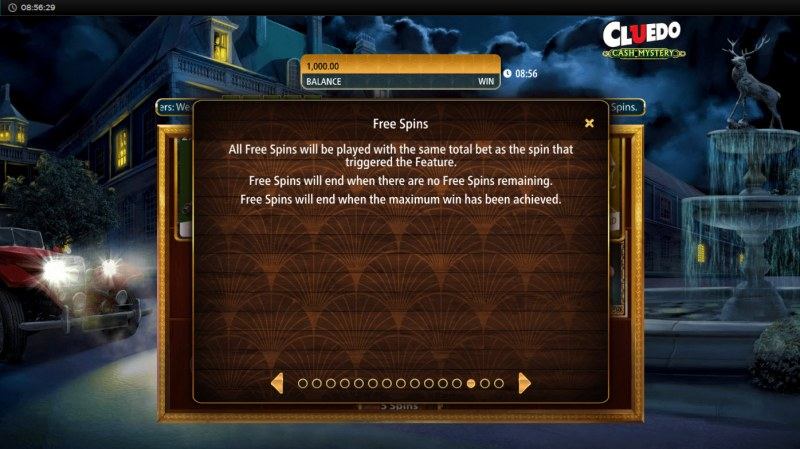Cluedo Cash Mystery :: Free Spin Feature Rules
