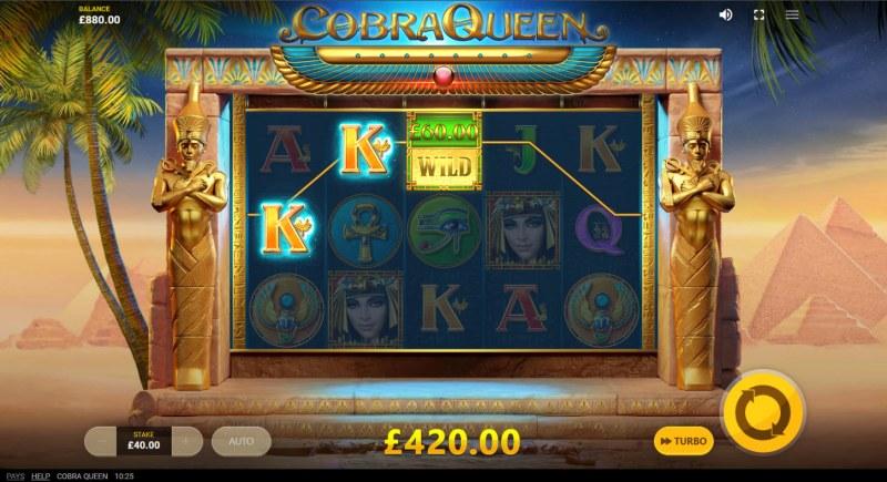 Cobra Queen :: A three of a kind win