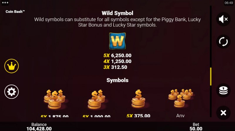 Coin Bash :: Wild Symbol Rules