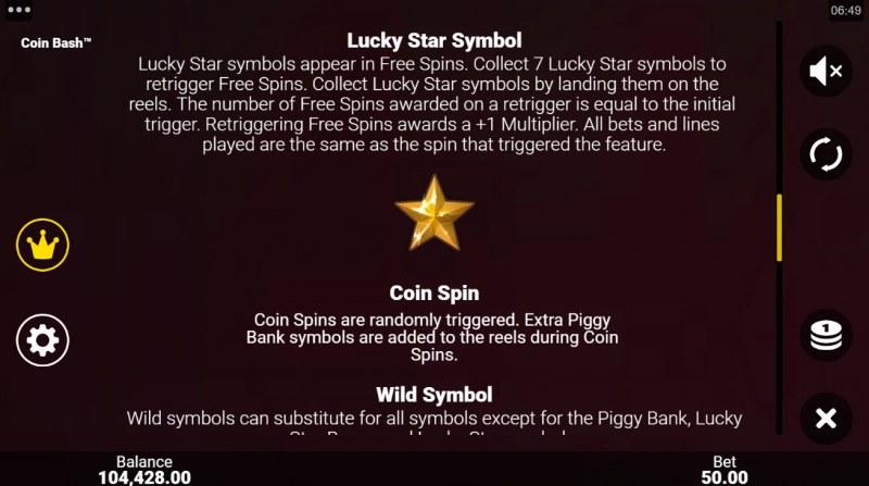 Coin Bash :: Lucky Star Symbol