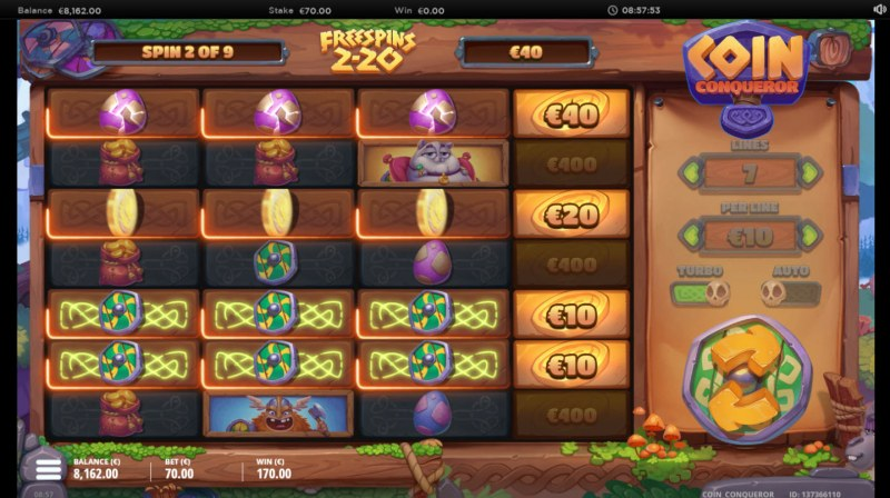 Coin Conquer :: Free Spins Game Board