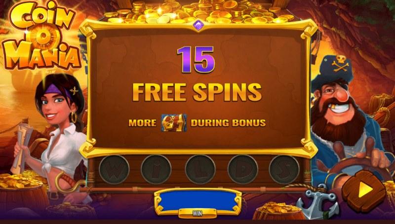 Coin O Mania :: 15 free spins awarded
