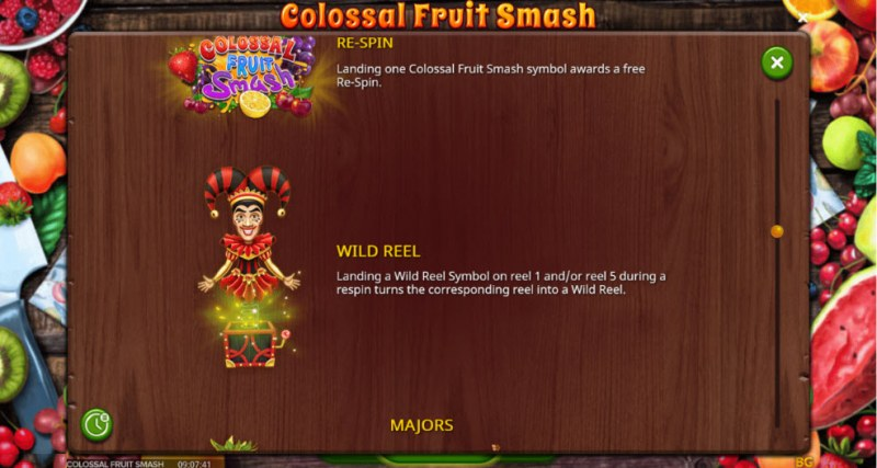 Colossal Fruit Smash :: Wild Symbols Rules