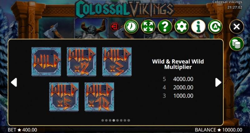 Colossal Vikings :: Wild Symbols Rules